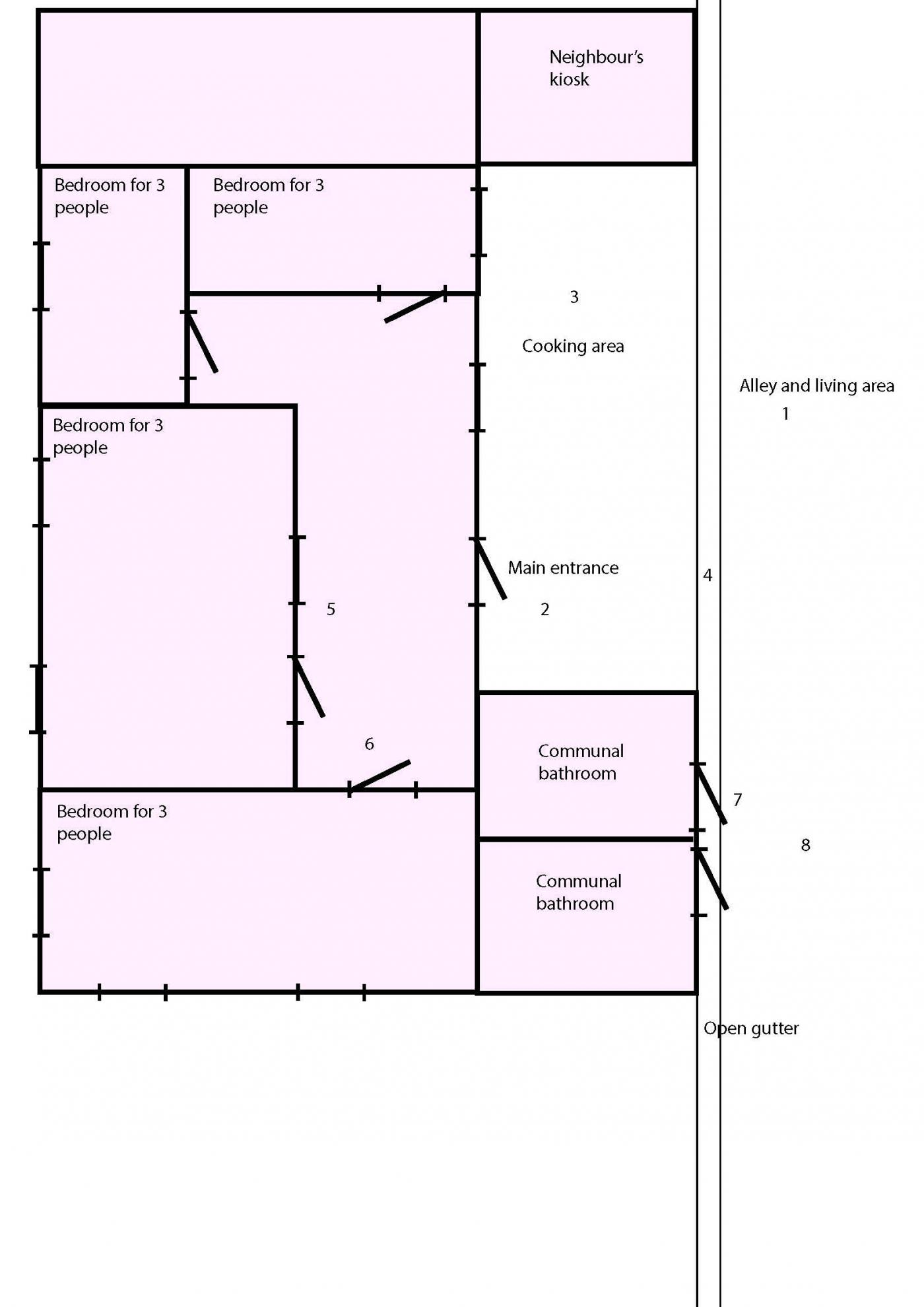 House map drawing simple pictures